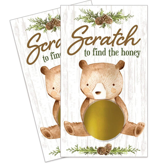 Woodland Bear Scratch Off Game Cards - 28 Scratchers