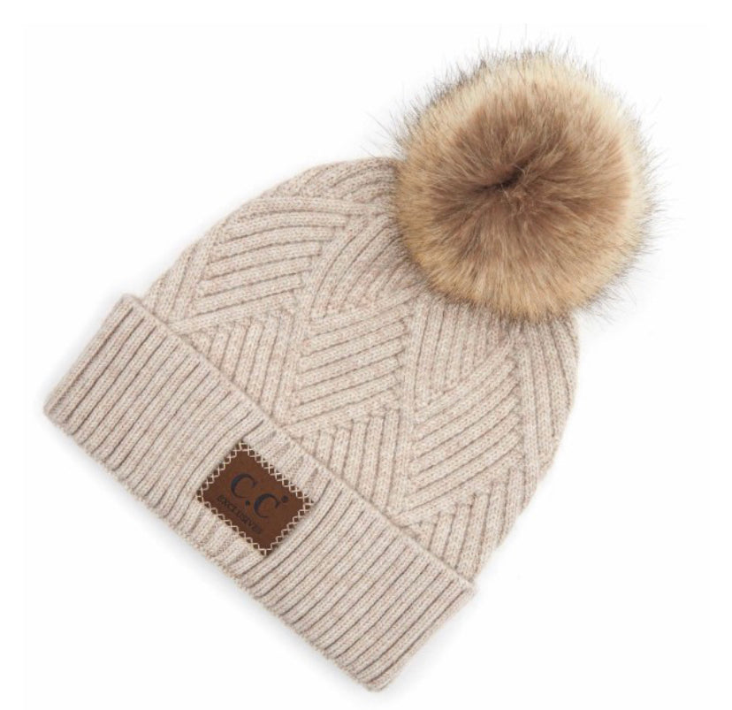 C.C Pining For Warmth Pom Beanie - Shoefisticated