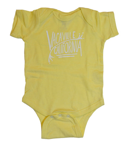 Vacaville, California Onesie - Yellow