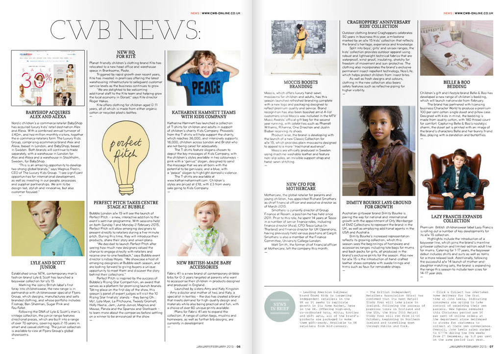 CWB Magazine Issue 92 January February 2015 News section - Lazy Francis introduces  boyswear line