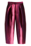 Plum Taffeta Girls Trousers - LAZY FRANCIS - Shop in store at 406 Kings Road, Chelsea, London or shop online at www.lazyfrancis.com