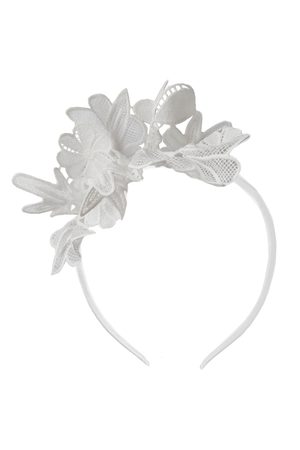 White Flower Lace Headband - LAZY FRANCIS - Shop in store at 406 Kings Road, Chelsea, London or shop online at www.lazyfrancis.com