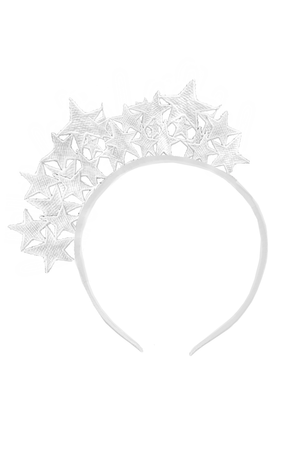 White Star Lace Headband - LAZY FRANCIS - Shop in store at 406 Kings Road, Chelsea, London or shop online at www.lazyfrancis.com