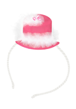 Strawberry Pink Hat Headband with Pearls - LAZY FRANCIS - Shop in store at 406 Kings Road, Chelsea, London or shop online at www.lazyfrancis.com