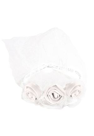 White Triple Rose Headband - LAZY FRANCIS - Shop in store at 406 Kings Road, Chelsea, London or shop online at www.lazyfrancis.com