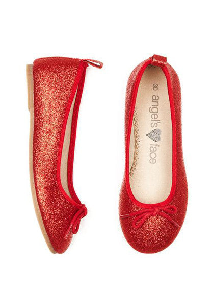 Red Girls Ballet Pump Shoes - LAZY FRANCIS - Shop in store at 406 Kings Road, Chelsea, London or shop online at www.lazyfrancis.com