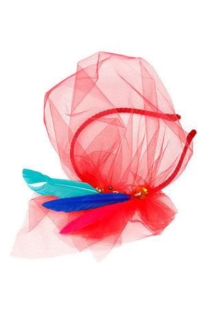 Fuchsia Raw Silk Butterfly Wristband