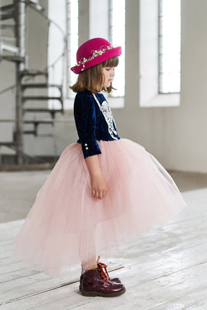 Félicie Blush Pink High-Low Girls Tutu Skirt - LAZY FRANCIS - Shop in store at 406 Kings Road, Chelsea, London or shop online at www.lazyfrancis.com