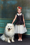 Black & Ivory Taffeta Peplum Girls Tutu Dress - LAZY FRANCIS - Shop in store at 406 Kings Road, Chelsea, London or shop online at www.lazyfrancis.com