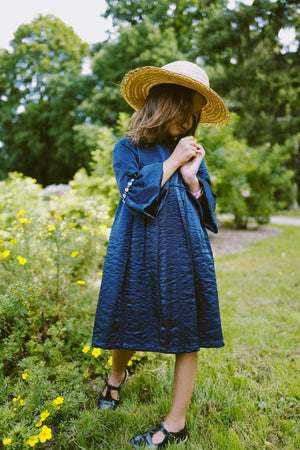 Sparkling Navy Blue Daisy's Girls Flower Dress