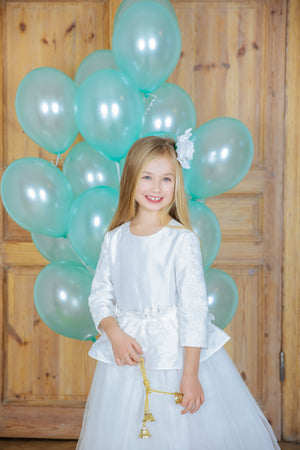 Giselle Maxi Gown Girls Tutu Dress in White