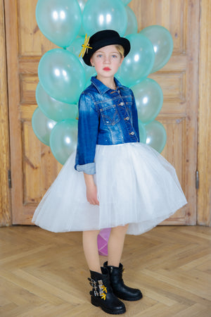 Off White Félicie High-Low Girls Tutu Skirt