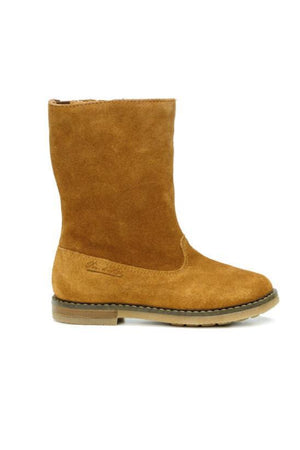 Camel Girls High Suede Leather Boots - Pom D'Api - LAZY FRANCIS - Shop in store at 406 Kings Road, Chelsea, London or shop online at www.lazyfrancis.com