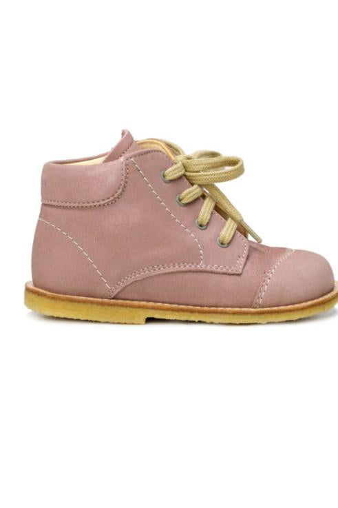 Dusty Rose Baby Girl Lace-up Leather Boots Boots Angulus