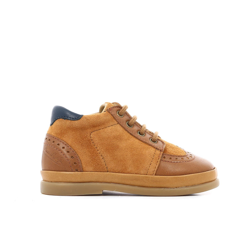 Camel Lace Up Unisex Leather Derby Shoe - Pom D'Api - LAZY FRANCIS - Shop in store at 406 Kings Road, Chelsea, London or shop online at www.lazyfrancis.com