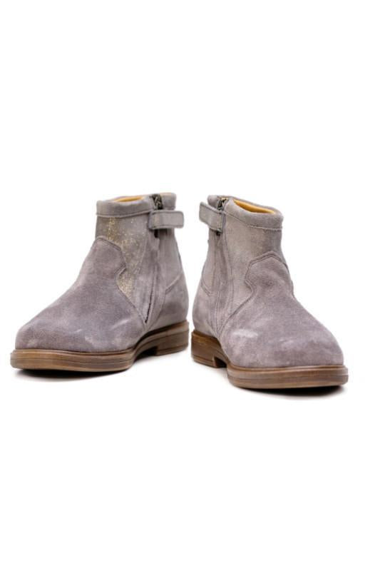 Grey Suede Sparkle Ankle Girls Boots - Pom D'Api - LAZY FRANCIS - Shop in store at 406 Kings Road, Chelsea, London or shop online at www.lazyfrancis.com