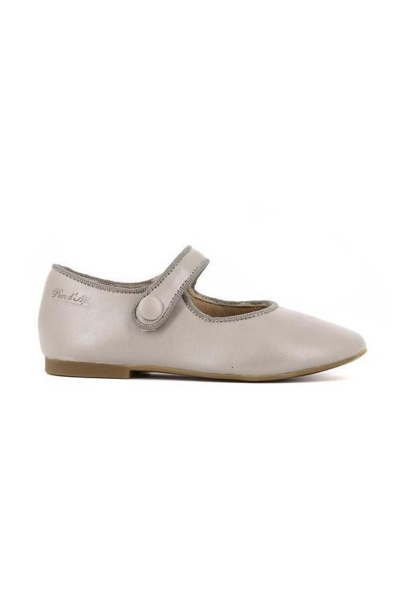 Grey shimmery girl daisy shoes mary jane style.