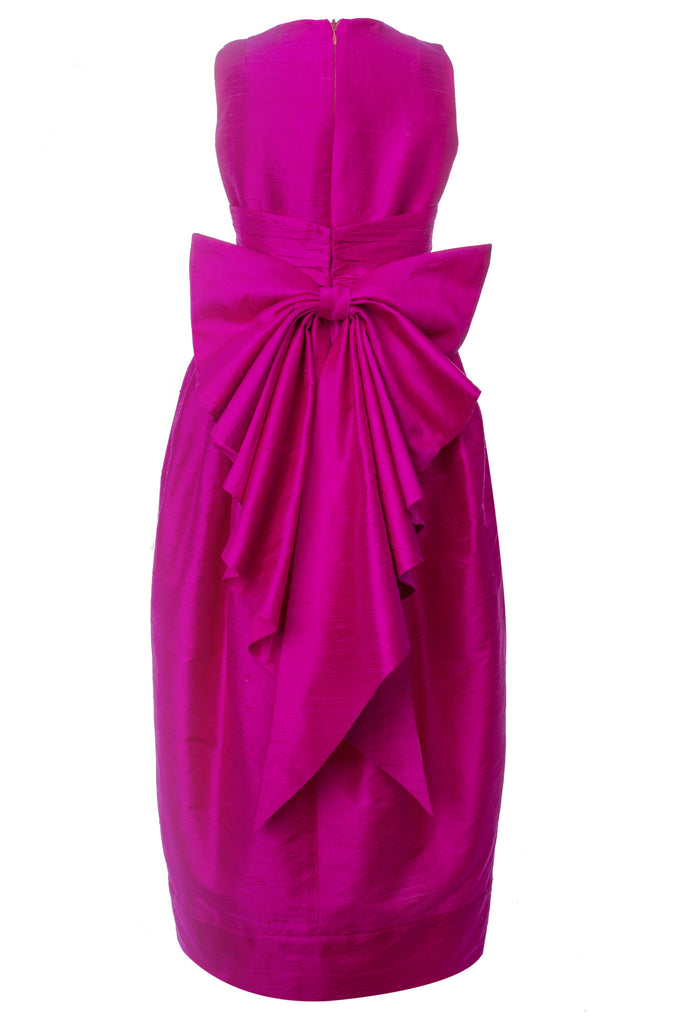 Lazy Francis Fuchsia Silk Maxi Couture Exclusive Girls Designer Dress special occasion, sale
