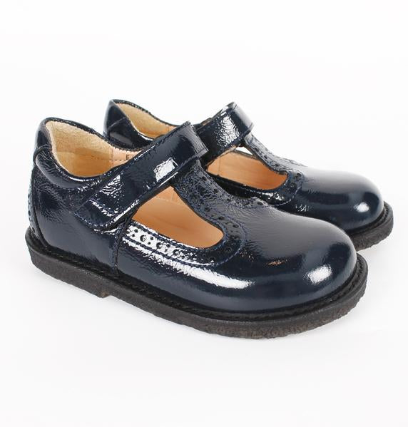 Navy Velcro Strap T-Bar Girls Shoes - Angulus - LAZY FRANCIS - Shop in store at 406 Kings Road, Chelsea, London or shop online at www.lazyfrancis.com