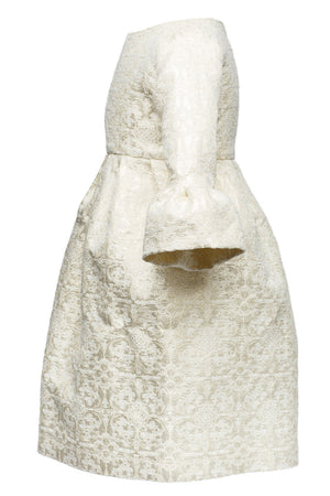 Snow White's White Dream Jacquard Dress - January Offer - LAZY FRANCIS - Shop in store at 406 Kings Road, Chelsea, London or shop online at www.lazyfrancis.com