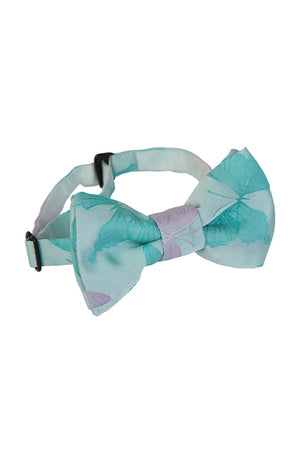 Blue & Lilac Jacquard Bow Tie - LAZY FRANCIS - Shop in store at 406 Kings Road, Chelsea, London or shop online at www.lazyfrancis.com