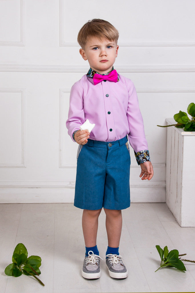 Fuchsia Silk Bow Tie - LAZY FRANCIS - Shop in store at 406 Kings Road, Chelsea, London or shop online at www.lazyfrancis.com