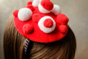 Red Velvet Bubble Headband - LAZY FRANCIS - Shop in store at 406 Kings Road, Chelsea, London or shop online at www.lazyfrancis.com