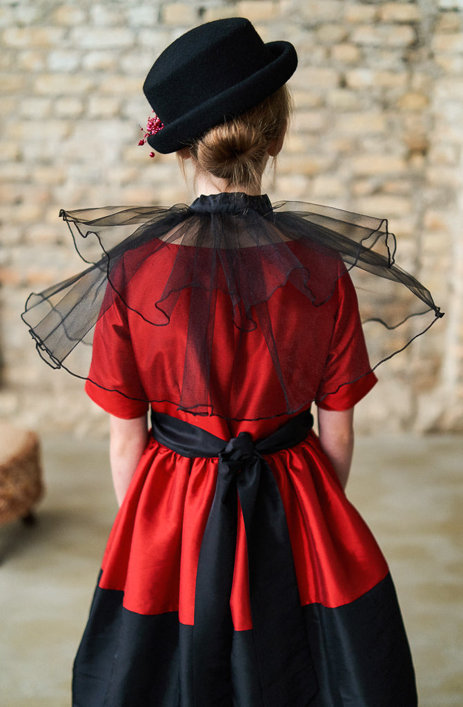 Marie Antoinette Tulle Pelerine in Black - LAZY FRANCIS - Shop in store at 406 Kings Road, Chelsea, London or shop online at www.lazyfrancis.com