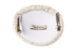 Cream Jacquard Hair Clip - LAZY FRANCIS - Shop in store at 406 Kings Road, Chelsea, London or shop online at www.lazyfrancis.com