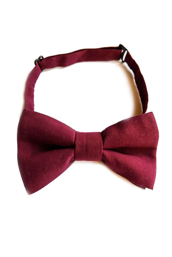 Lazy Francis Burgundy Boys Bow Tie hand made special occasion party sale