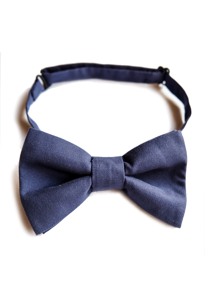 Navy Blue Bow Tie - LAZY FRANCIS - Shop in store at 406 Kings Road, Chelsea, London or shop online at www.lazyfrancis.com