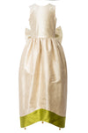 Cream Raw Silk Scheherazade's Maxi Couture Girls Dress - LAZY FRANCIS - Shop in store at 406 Kings Road, Chelsea, London or shop online at www.lazyfrancis.com