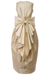 Cream Raw Silk Scheherazade's Maxi Couture Dress - LAZY FRANCIS - Shop in store at 406 Kings Road, Chelsea, London or shop online at www.lazyfrancis.com