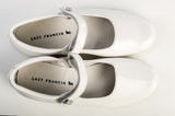 Lazy Francis White Lacquer Leather Girls Mary-Jane Shoes sale