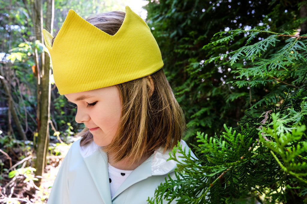 Yellow Crown Hat - LAZY FRANCIS - Shop in store at 406 Kings Road, Chelsea, London or shop online at www.lazyfrancis.com