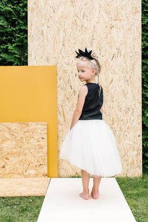 Off White Félicie High-Low Girls Tutu Skirt - LAZY FRANCIS - Shop in store at 406 Kings Road, Chelsea, London or shop online at www.lazyfrancis.com