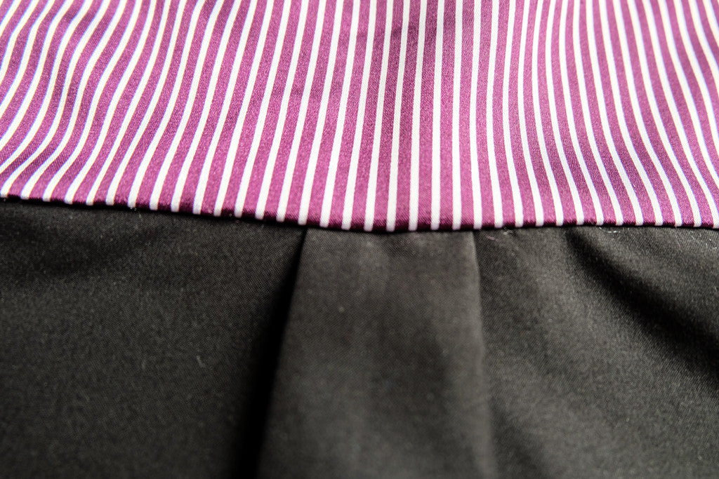 Black Shirt with Violet Details - LAZY FRANCIS - Shop in store at 406 Kings Road, Chelsea, London or shop online at www.lazyfrancis.com