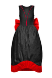 Jasmine Couture Maxi Dress in Black & Red Raw Silk - LAZY FRANCIS - Shop in store at 406 Kings Road, Chelsea, London or shop online at www.lazyfrancis.com