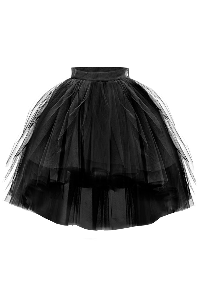Black High-Low Tutu Skirt - LAZY FRANCIS - Shop in store at 406 Kings Road, Chelsea, London or shop online at www.lazyfrancis.com