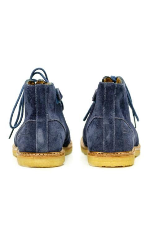 Navy Blue Lace Up Ankle Boys Boots - Pom D'Api - LAZY FRANCIS - Shop in store at 406 Kings Road, Chelsea, London or shop online at www.lazyfrancis.com