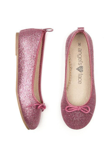 Angel's Face Dark Rose Girls Ballet Pump Shoes - LAZY FRANCIS - Shop in store at 406 Kings Road, Chelsea, London or shop online at www.lazyfrancis.com