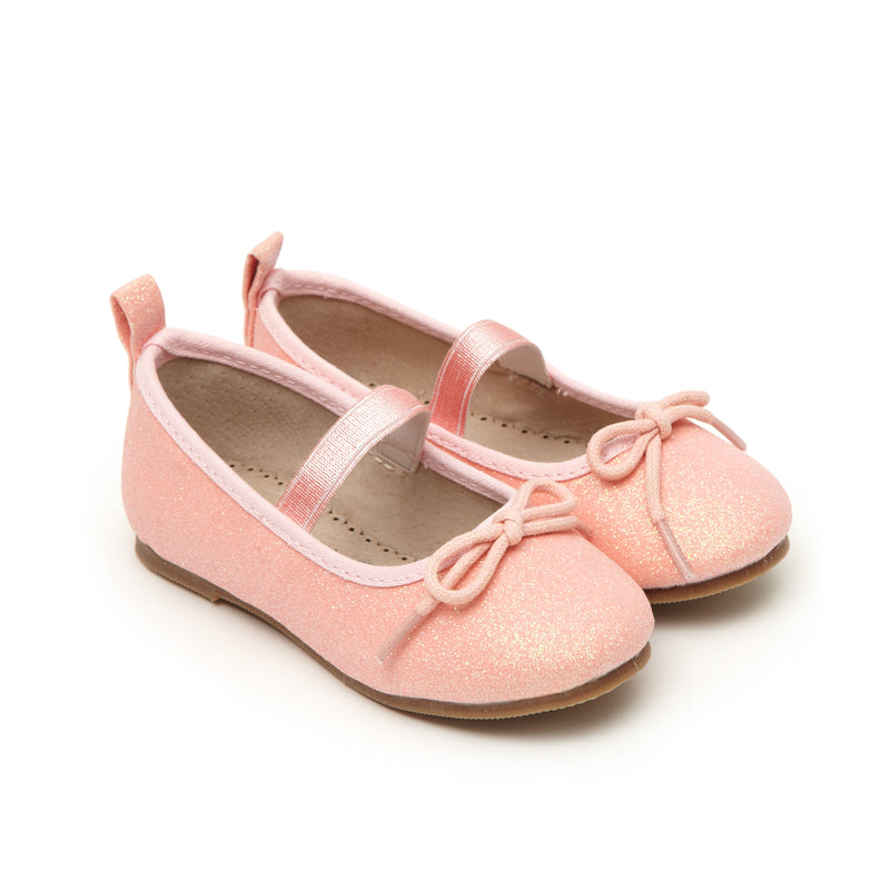 Pink Toddler Girls Ballet Pump Shoes - LAZY FRANCIS - Shop in store at 406 Kings Road, Chelsea, London or shop online at www.lazyfrancis.com