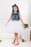 Félicie High-Low Girls Tutu Skirt in White - LAZY FRANCIS - Shop in store at 406 Kings Road, Chelsea, London or shop online at www.lazyfrancis.com