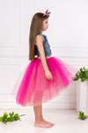 Félicie Fuchsia Félicie High-Low Girls Tutu Skirt - LAZY FRANCIS - Shop in store at 406 Kings Road, Chelsea, London or shop online at www.lazyfrancis.com