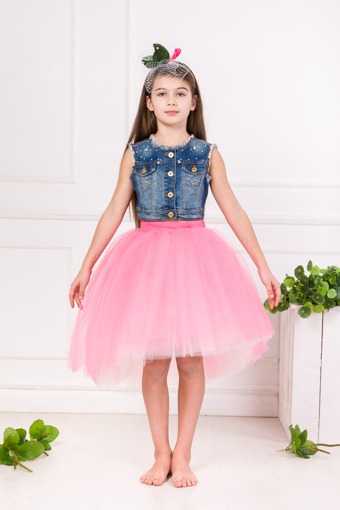 Marie Girls Tutu Skirt in Pink - LAZY FRANCIS - Shop in store at 406 Kings Road, Chelsea, London or shop online at www.lazyfrancis.com