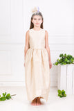 Lazy Francis Cream Silk Scheherazade's Maxi Couture Exclusive Girls Designer Dress, sale