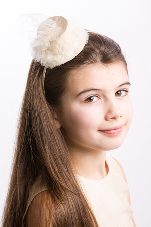 Cream Silk Hat Headband - LAZY FRANCIS - Shop in store at 406 Kings Road, Chelsea, London or shop online at www.lazyfrancis.com