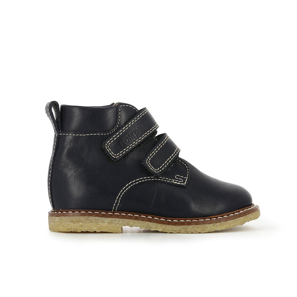 Marine & Sage Suzet Hi Easy Unisex Leather boots- Pom D'Api - LAZY FRANCIS - Shop in store at 406 Kings Road, Chelsea, London or shop online at www.lazyfrancis.com
