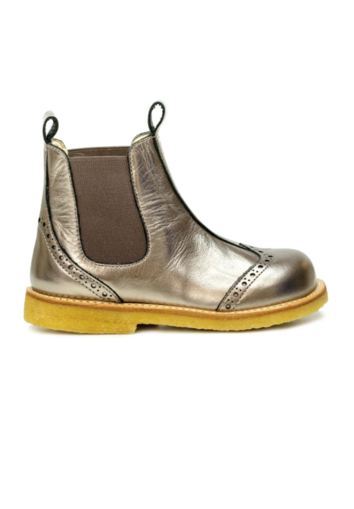 Bronze Girls Chelsea Ankle Boots - Angulus - LAZY FRANCIS - Shop in store at 406 Kings Road, Chelsea, London or shop online at www.lazyfrancis.com