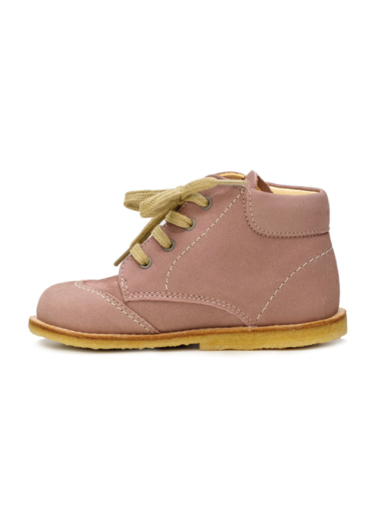 Dusty Rose Baby Girl Lace-up Leather Boots - LAZY FRANCIS - Shop in store at 406 Kings Road, Chelsea, London or shop online at www.lazyfrancis.com